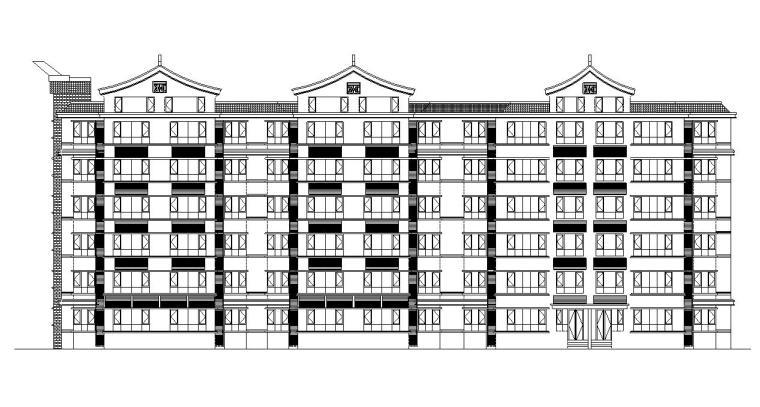 [宁夏]六层剪力墙结构中式风格住宅建筑施工图