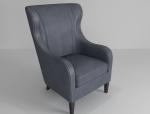 皮质沙发椅3D模型下载