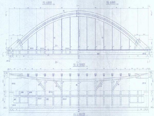 铁路先梁后拱支架现浇法施工1-96m下承式简支拱通用图65张(PDF)