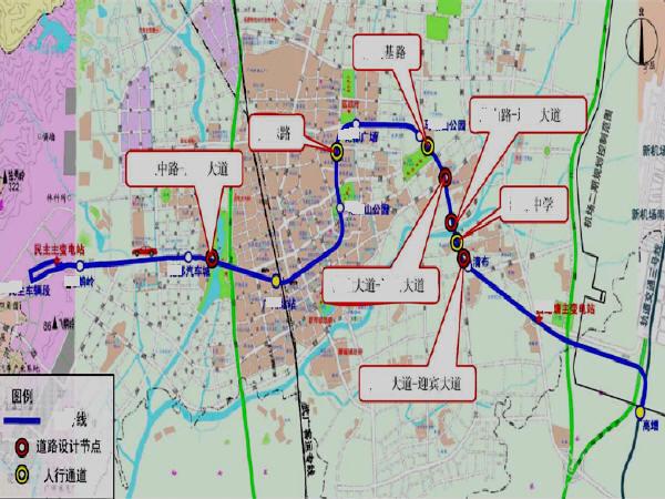 地铁线沿线城市道路交通优化工程环境影响报告书346页(含隧道道路交通照明绿化管线等)