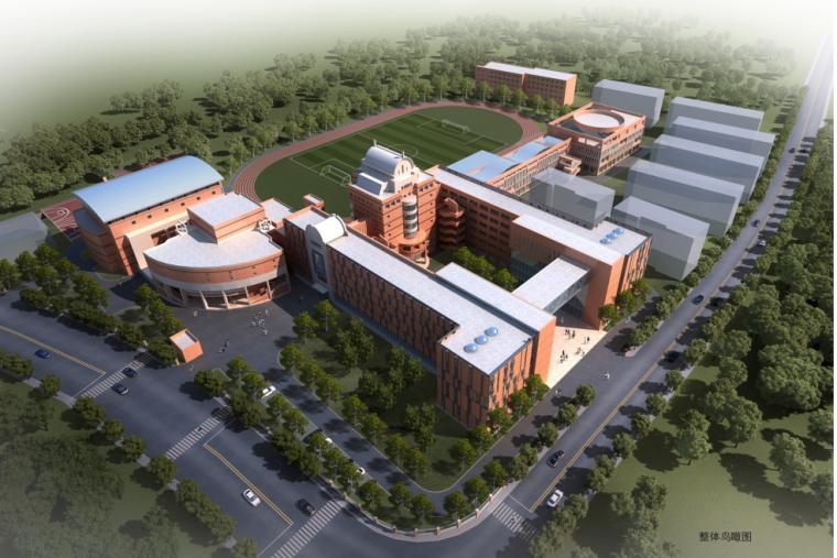 欧式风格软装设计说明资料下载-[上海]高层欧式风格中学建筑设计方案文本