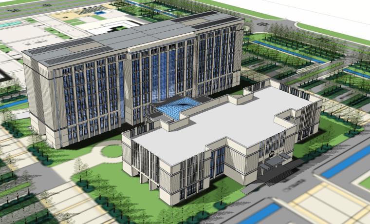 某大型行政市民会议中心建筑设计psd源文件