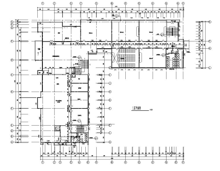 长65.6米宽56.3米四层V型图书馆设计施工图