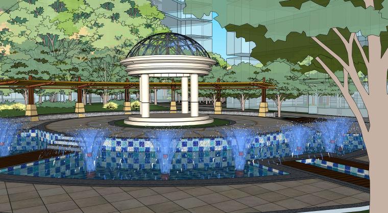 超精细!居住区建筑景观设计模型