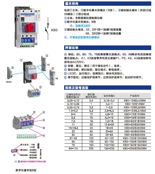 KB0控制与保护开关电器产品手册_2