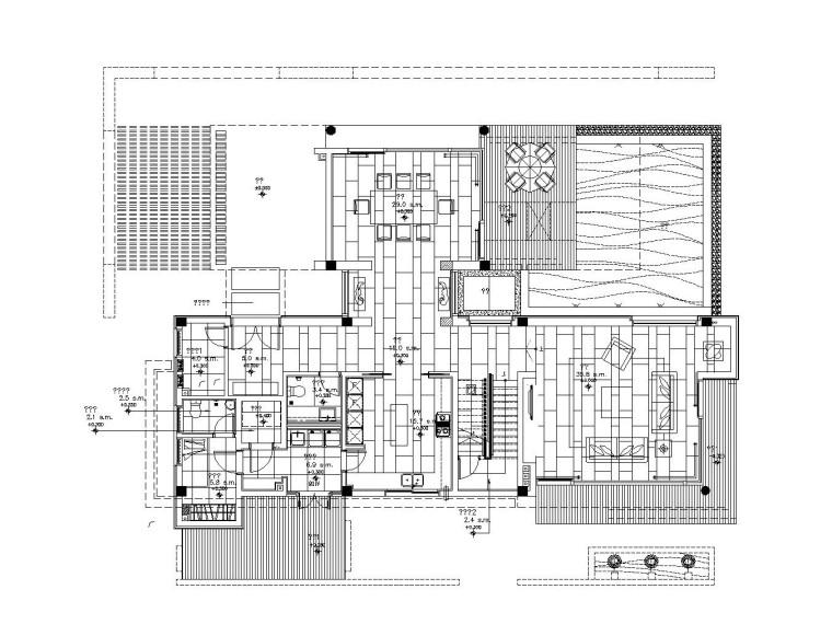 梁志天——现代简约风格别墅室内装修全套施工图