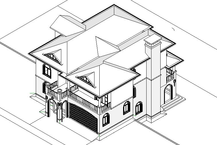 BIM模型-revit模型-别墅项目模型