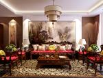 中式华丽客厅3D模型下载