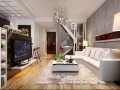 复式客厅3D模型下载