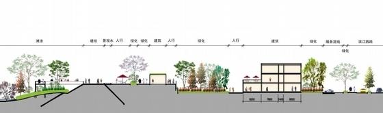 3套中式风格大型旅游度假区建筑剖面图