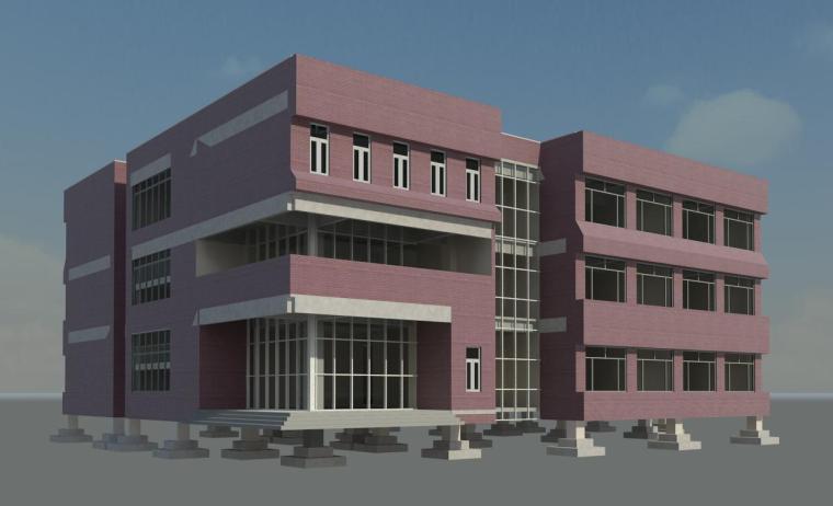 BIM模型-revit模型-教学楼项目