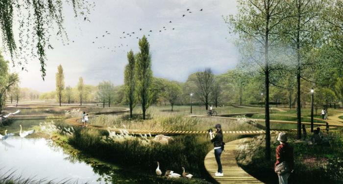 [浙江]绿色廊道园林景观设计