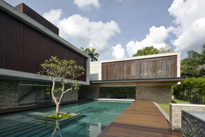 现代别墅住宅景观