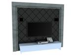 欧式硬包背景墙3D模型下载