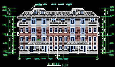 华东设计院——新中式风格石材穆青住宅建筑归档施工图