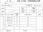 分部工程质量验收记录表(主体)
