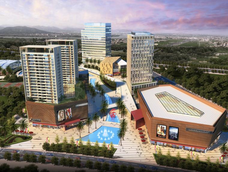 [广东]大型文化体育中心建筑设计方案文本(CAD+文本)