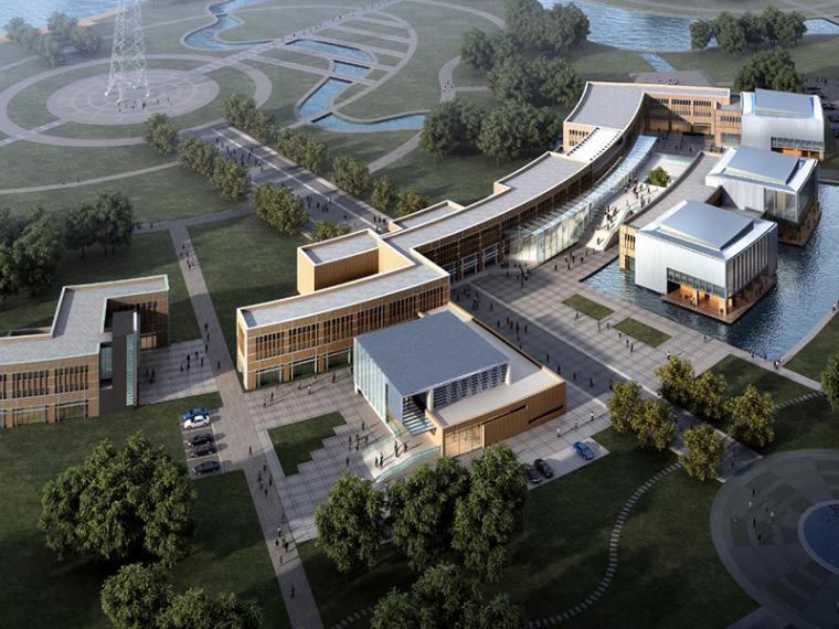 [南京]广播电视台办公楼建筑设计方案(CAD+文本+PPT)