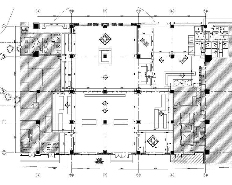 [大连]万达康莱德希尔顿酒店设计施工图(附超详细物料表)