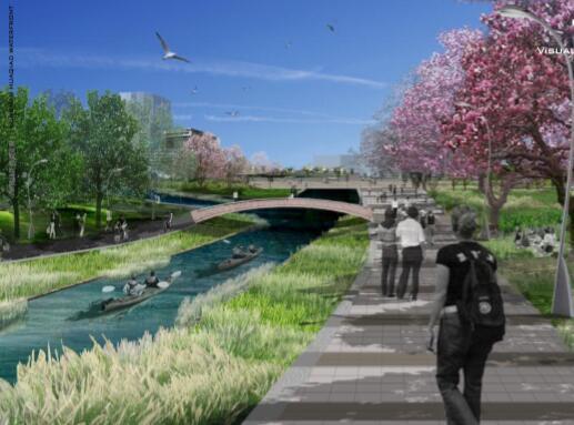 昆山花桥滨江带景观规划设计方案-04效果图