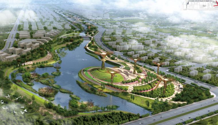[河南]某航空港经济综合实验区梅河水系景观设计方案文本(包含PDF+128页)