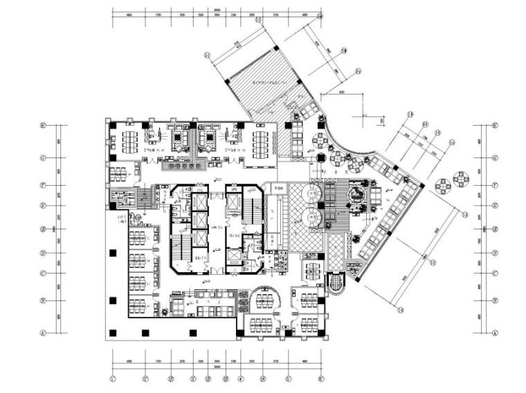 [重庆]1300㎡西餐厅装饰工程施工图设计(附效果图)