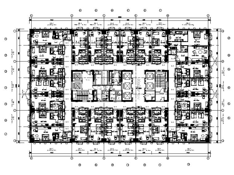 [武汉]时尚大酒店全套CAD设计施工图(实景图)