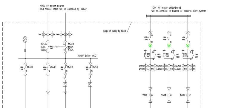 某国外生物质发电项目投标方案(电气主接线图+说明+设备材料表)