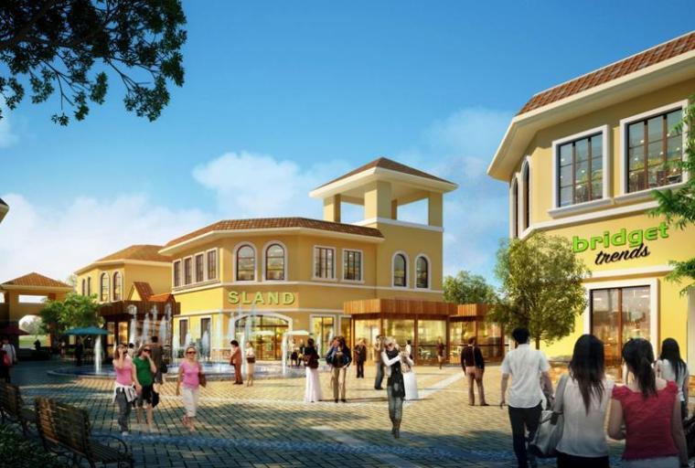 [安徽]多层四坡屋顶美食街及小型商业建筑设计方案文本