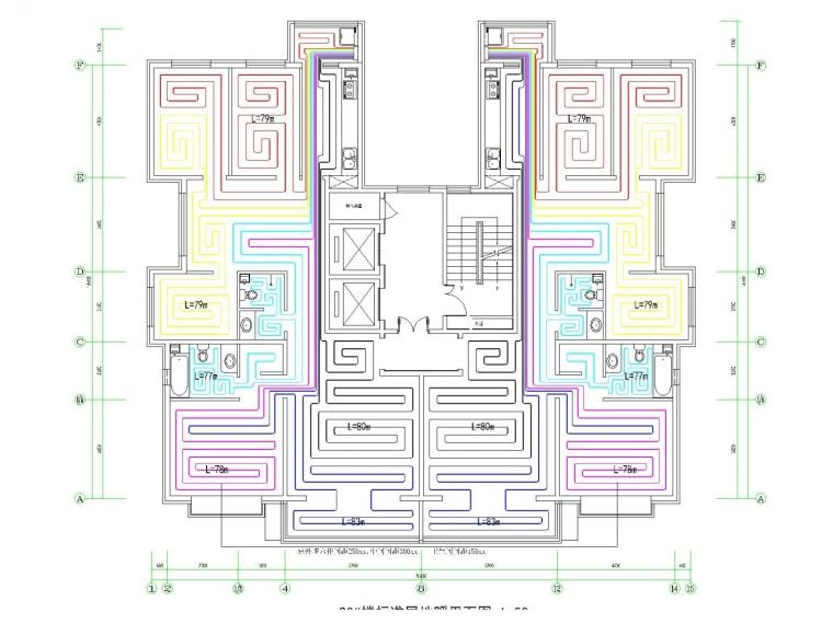 高层住宅楼采暖通风系统设计施工图(地板辐射采暖)