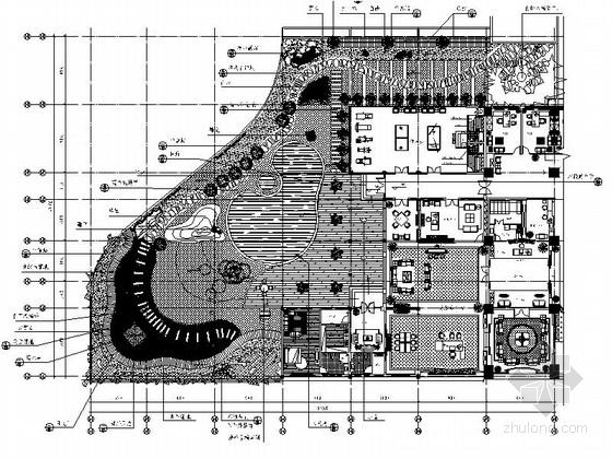 某办公楼屋顶花园景观施工图