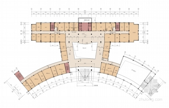 [福建]现代风格勘察设计研究院科技综合楼设计方案文本(知名设计院)-现代风格勘察设计研究院科技综合楼平面图