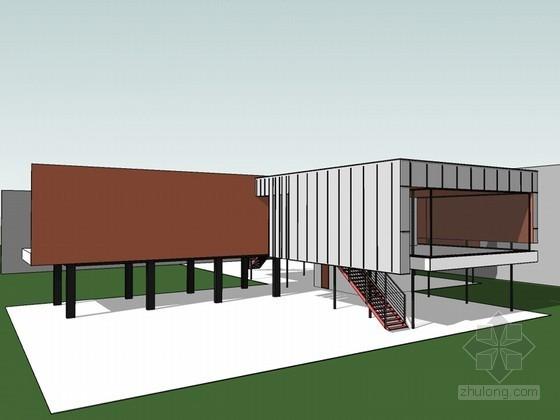 水上房子SketchUp模型下载