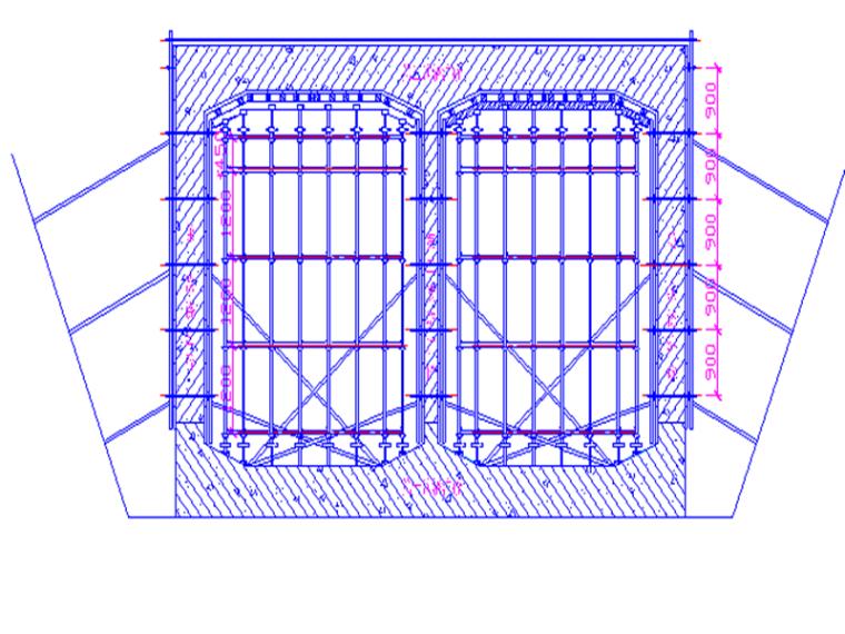 明挖隧道主体结构模板支撑施工方案
