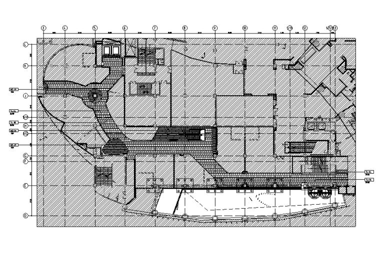 三迪中心商场设计施工图(附效果图+标识设计方案+SU草图模型+深化设计方案+概念设计方案)-总平面地面铺装图