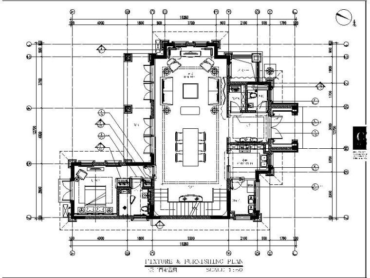 [成都]新中式样板房设计施工图(含效果图)