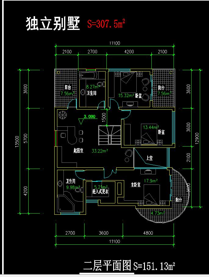 独立别墅施工图