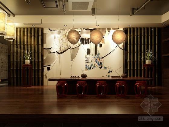 中式风格茶楼3d模型下载