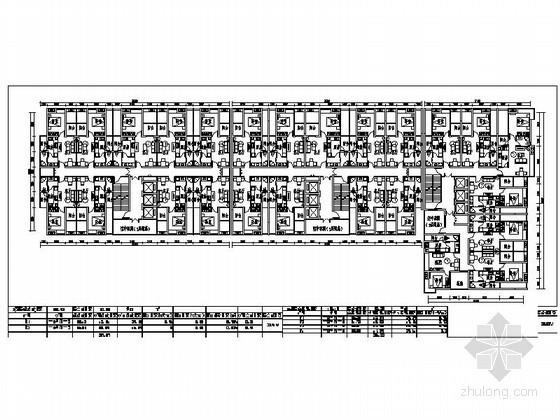 高层住宅一梯九户酒店式公寓标准层平面图(55、66平方米)