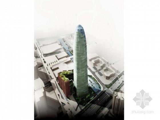[广东]超高层玻璃幕墙办公塔楼建筑设计方案文本(含CAD)