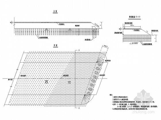 公路工程特殊路基处理设计图(湿喷桩处理桥头软基)