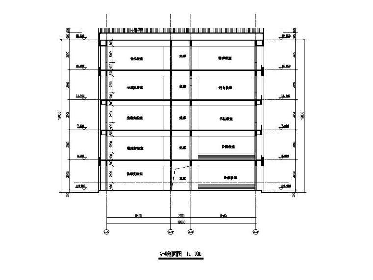 [浙江]五层长条形面砖外墙市级中学建筑施工图(含效果图)_6
