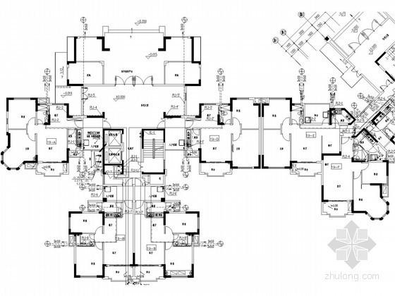 [河南]高层住宅楼给排水及消防设计施工图(热水系统)