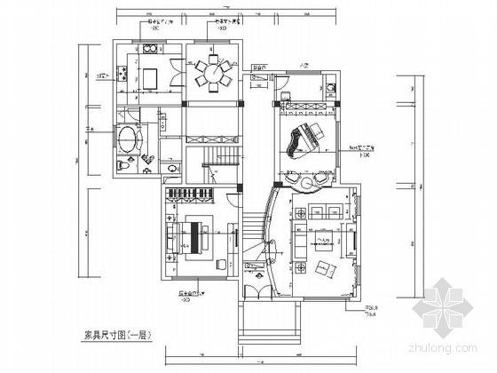 [江苏]精品豪华大宅纯净色彩美式古典风格独栋别墅室内装修设计施工图(含效果)