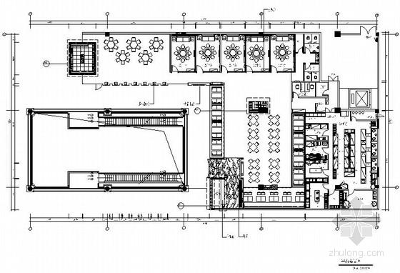 [福建]某现代风时尚餐厅室内装修施工图(含效果)