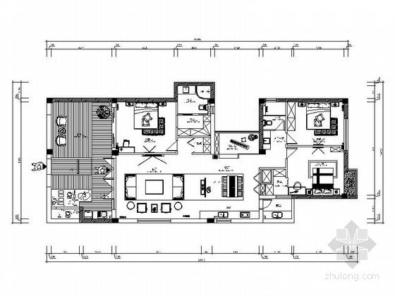 [瑞安]新中式三居室雅居装修图(含效果)