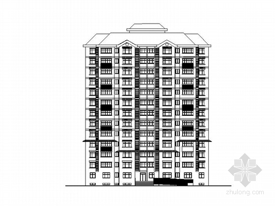 [天津]高层坡屋顶居住小区建筑施工图