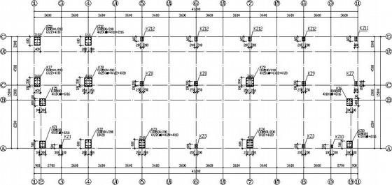 [广东]四层框架宿舍楼结构施工图