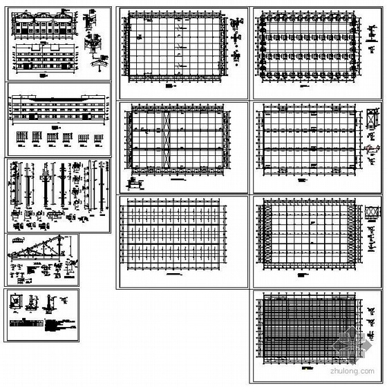 某排架结构钢混单层厂房设计图纸