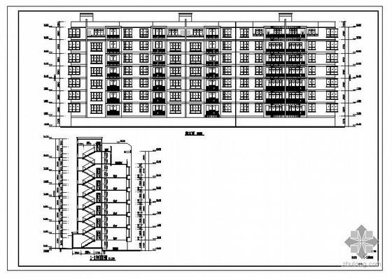 某7层框架异型柱住宅建筑结构图